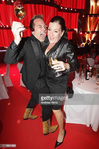 Frank Matthee and Katy Karrenbauer attend the 'Deutscher Live Entertainment Award PRG LEA 2011' at the Festhalle on April 5 2011 in Frankfurt am Main...