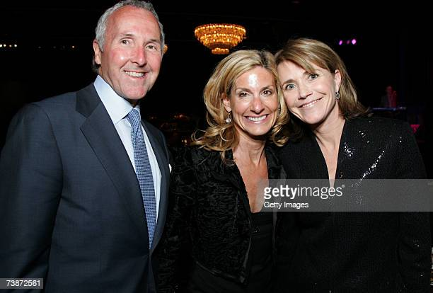 Frank McCourt Jamie McCourt and Cochair Dr Barbara NattersonHorowitz attend the Independent School Alliance Minority Affairs Dinner on April 12 2007...