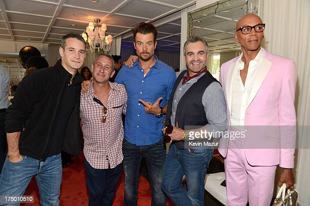 Frank Meli Adam Shankman Josh Duhamel Martyn Lawrence Bullard and RuPaul attend Ferg's Gayby Shower at the SLS Hotel on July 28 2013 in Beverly Hills...