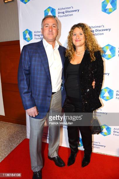 Frank Meli and Lisa Meli attend Alzheimer's Drug Discovery Foundation's Second Memories Matter Event at Pier 60 at Chelsea Piers on April 9 2019 in...