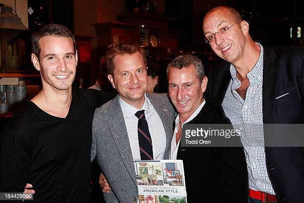 Frank Meli Nathan Turner Adam Shankman and Eric Hughes pose at Pottery Barn Hosts Nathan Turner Book Launch at Pottery Barn on October 18 2012 in...