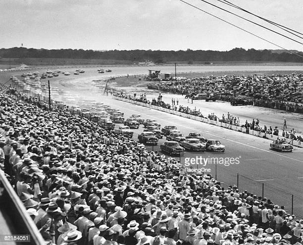 Frank Mundy started Perry Smith's Studebaker on the pole in the 1951 Southern 500 but retired after only 12 laps with no oil pressure Herb Thomas...