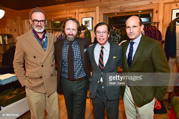 Frank Muytjens David Coggins Andy Spade and John Brodie attend Frank Muytjens JCrew Celebrate David Coggins New Book 'Men and Style' at JCrew Men's...