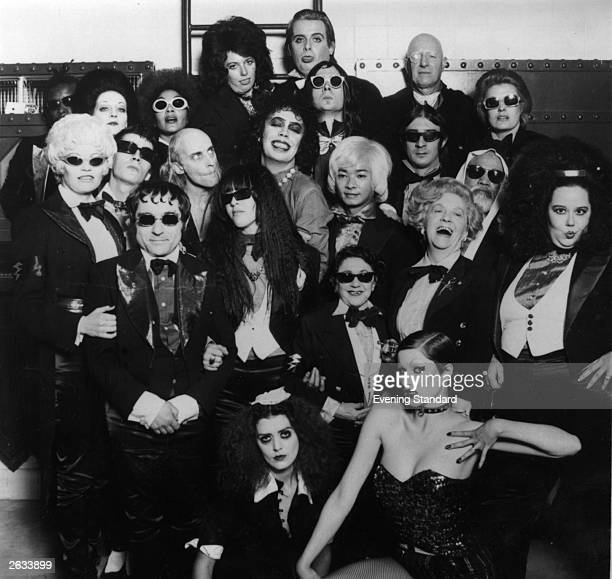 Frank N Furter and his gruesome sidekicks pose at a photocall for the cult musical 'The Rocky Horror Picture Show' directed by Jim Sharman for 20th...