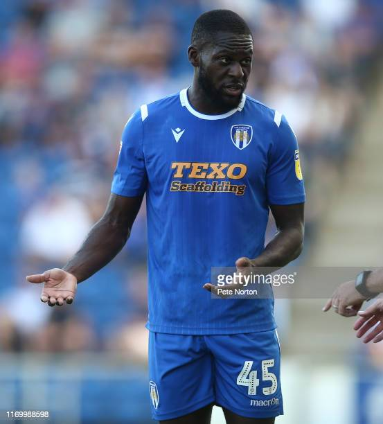 Frank Nouble of Colchester United in action during the Sky Bet League Two match between Colchester United and Northampton Town at JobServe Community...