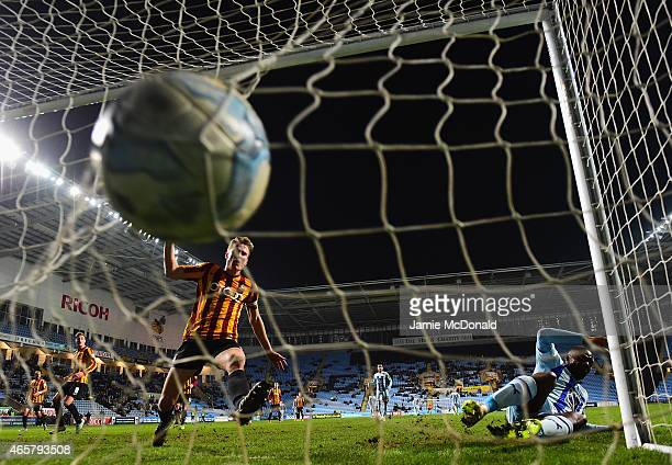 Frank Nouble of Coventry City scores hia goal during the Sky Bet League One match between Coventry City and Bradford City at Ricoh Arena on March 10...