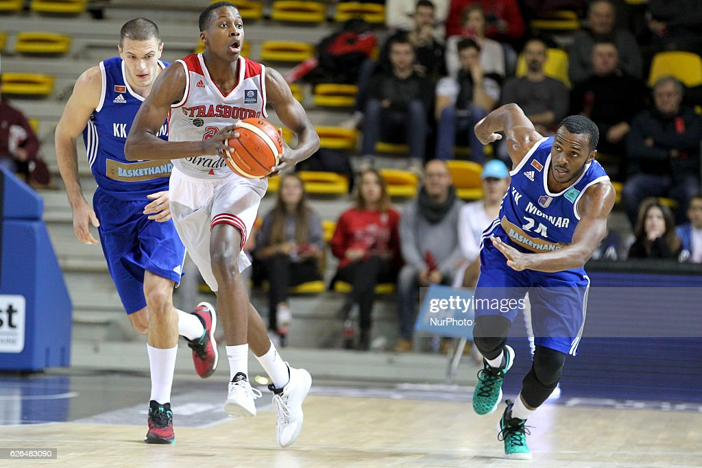 Frank Ntilikina 22 in action during SIG Strasbourg v KK Mornar Regular Season - Group D of Basketball Champions League in Strasbourg, France, on 29 November 2016.