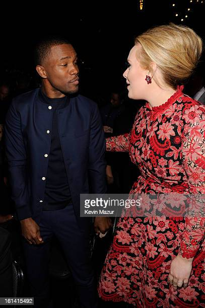 Frank Ocean and Adele attend the 55th Annual GRAMMY Awards at STAPLES Center on February 10 2013 in Los Angeles California