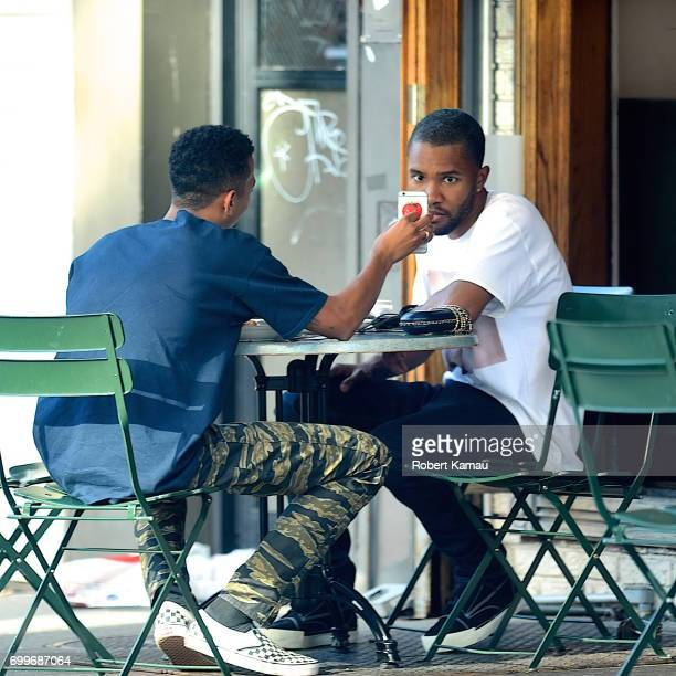 Frank Ocean and his guy friend seen out and about in SoHo on June 21 2017 in New York City