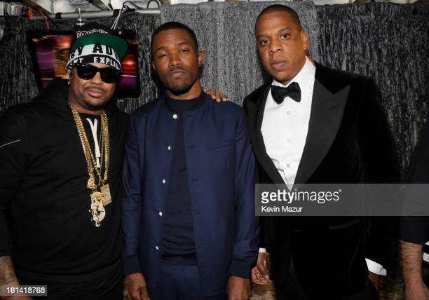 Frank Ocean and JayZ attend the 55th Annual GRAMMY Awards at STAPLES Center on February 10 2013 in Los Angeles California