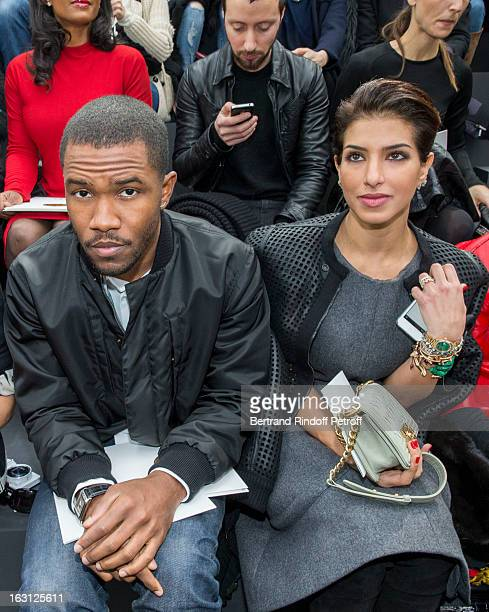 Frank Ocean and Princess Deena alJuhaniAbdulaziz attend the Chanel Fall/Winter 2013 ReadytoWear show as part of Paris Fashion Week at Grand Palais on...