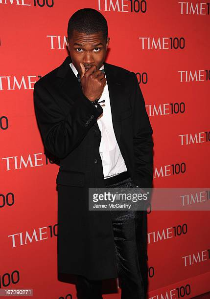 Frank Ocean attends the 2013 Time 100 Gala at Frederick P Rose Hall Jazz at Lincoln Center on April 23 2013 in New York City