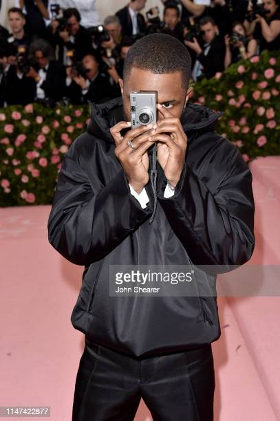 Frank Ocean attends The 2019 Met Gala Celebrating Camp: Notes On Fashion at The Metropolitan Museum of Art on May 06, 2019 in New York City.