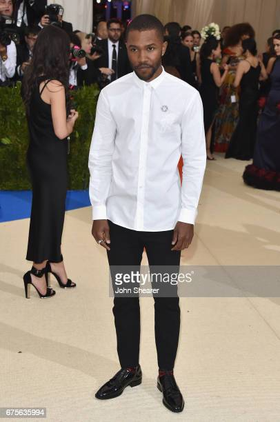 Frank Ocean attends the Rei Kawakubo/Comme des Garcons Art Of The InBetween Costume Institute Gala at Metropolitan Museum of Art on May 1 2017 in New...