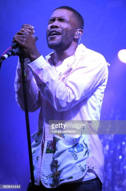 Frank Ocean during the performs during the 2014 Bonnaroo Music Arts Festival on June 14 2014 in Manchester Tennessee