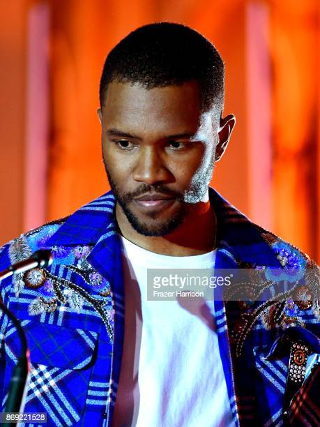 Frank Ocean onstage at Spotify's Inaugural Secret Genius Awards hosted by Lizzo at Vibiana on November 1 2017 in Los Angeles California