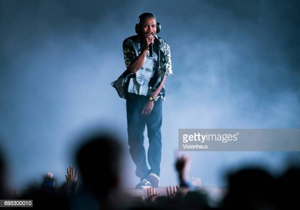 Frank Ocean performs at The Parklife Festival 2017 at Heaton Park on June 11 2017 in Manchester England