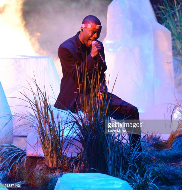 Frank Ocean performs onstage during the 2012 MTV Video Music Awards at Staples Center on September 6 2012 in Los Angeles California
