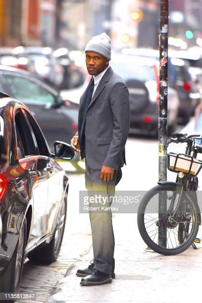 Frank Ocean seen out and about in Manhattan on April 7, 2019 in New York City.