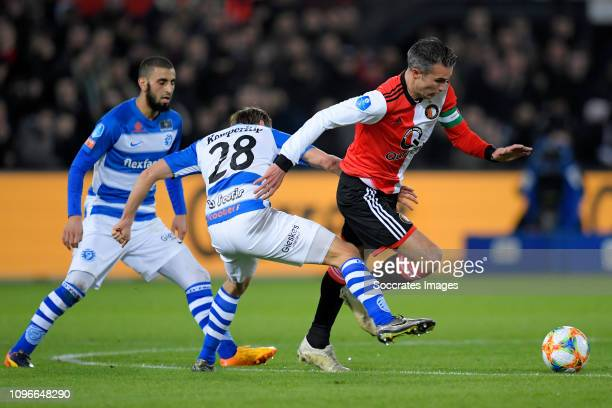 Frank Olijve of De Graafschap Robin van Persie of Feyenoord during the Dutch Eredivisie match between Feyenoord v De Graafschap at the Stadium...