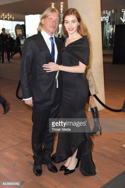 Frank Otto and his girlfriend Nathalie Volk attend the Deutscher Radiopreis at Elbphilharmonie on September 7 2017 in Hamburg Germany