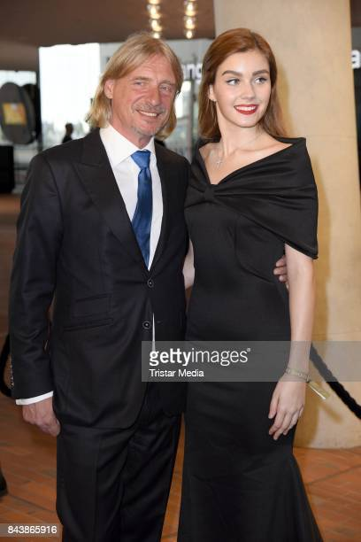 Frank Otto and his girlfriend Nathalie Volk attend the Deutscher Radiopreis at Elbphilharmonie on September 7 2017 in Hamburg Germany