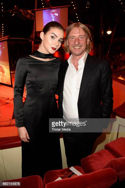 Frank Otto and his girlfriend Nathalie Volk during the Circus Roncalli Gala Premiere at Moorweide Park on June 3 2017 in Hamburg Germany