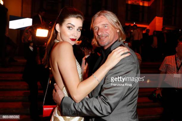 Frank Otto and Nathalie Volk attend the Echo award after show party on April 6 2017 in Berlin Germany