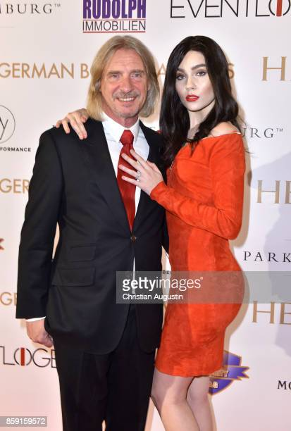 Frank Otto and Nathalie Volk attend the German Boxing Award Herqul at the Besenbinderhof on October 8 2017 in Hamburg Germany