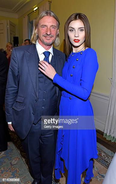 Frank Otto and Nathalie Volk attend the 'Heldenherz Kinderschutzpreis' at Hotel Louis C Jacob on October 11 2016 in Hamburg Germany