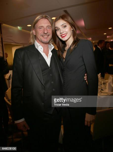 Frank Otto and Nathalie Volk attend the Media Entertainment Night at the West Hotel Elbphilharmonie on February 27 2017 in Hamburg Germany