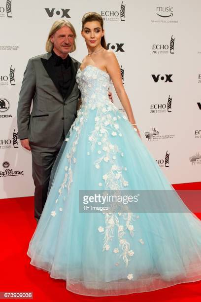 Frank Otto and Nathalie Volk on the red carpet during the ECHO German Music Award in Berlin Germany on April 06 2017