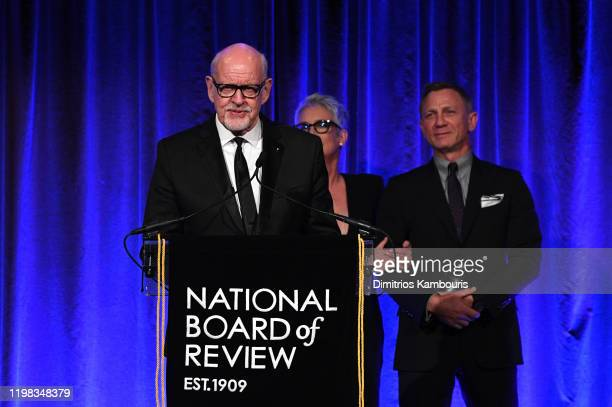 Frank Oz accepts the award for Best Ensemble for Knives Out onstage during The National Board of Review Annual Awards Gala at Cipriani 42nd Street on...