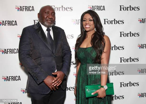 Frank Peters and Ella Peters attend Benedict Peters Receives Forbes Best Oil and Gas Leader of the Year Award Africa at Forbes International on...