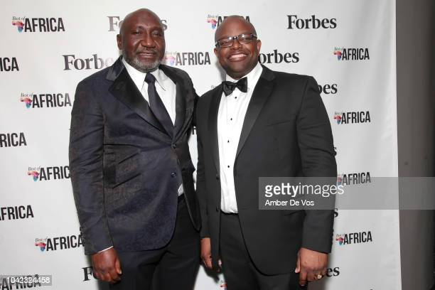 Frank Peters and Oliver Okafor attend Benedict Peters Receives Forbes Best Oil and Gas Leader of the Year Award Africa at Forbes International on...