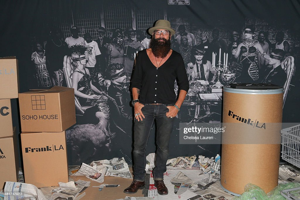 Frank LA photographer Bode Helm arrives at the Frank LA Issue release celebration 'No. 001 - No Place Like Home' benefitting LAMP community on July 23, 2015 in Los Angeles, California.
