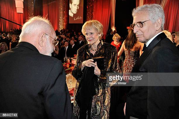 Frank Pierson, Diana Douglas Darrid and Bill Darrid during the AFI Lifetime Achievement Award: A Tribute to Michael Douglas held at Sony Pictures...