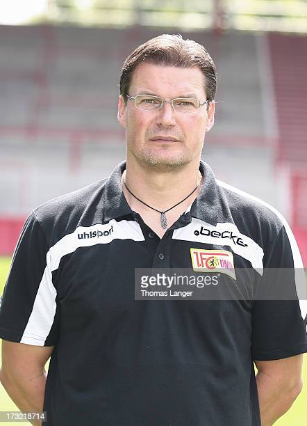 Frank Placzek poses during the 1 FC Union Berlin team presentation at Alte Foersterei on July 1 2013 in Berlin Germany