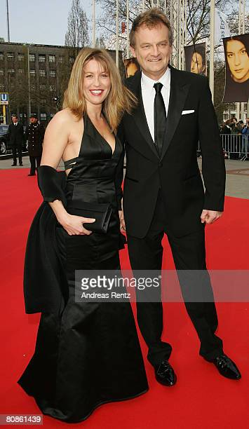 Frank Plasberg and Anne Gesthuysen arrive at the German Film Award at the Palais am Funkturm on April 25 2008 in Berlin Germany