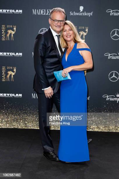 Frank Plasberg and Anne Gesthuysen arrive for the 70th Bambi Awards at Stage Theater on November 16 2018 in Berlin Germany