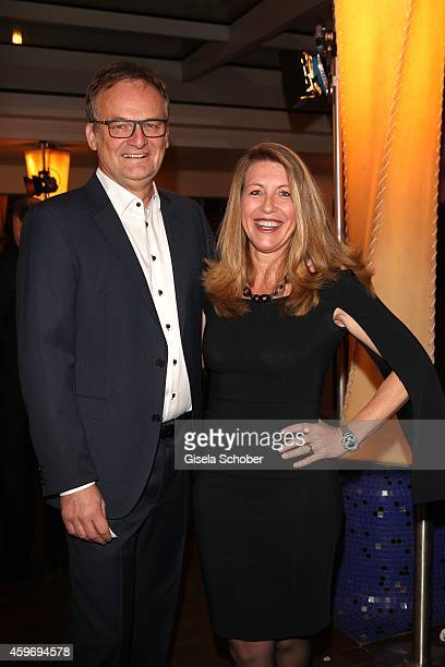 Frank Plasberg and his partner Anne Gesthuysen during the ARD advent dinner hosted by the program director of the tv station Erstes Deutsches...