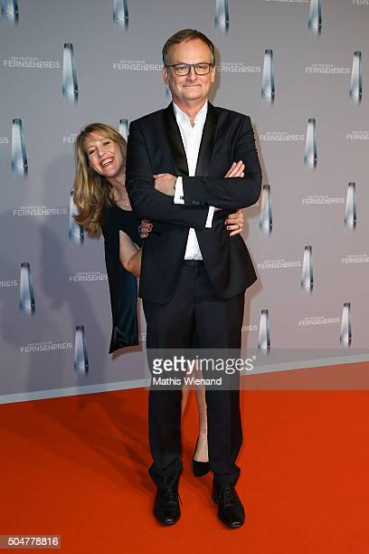 Frank Plasberg and his wife Anne Gesthuysen attend the German Television Award at Rheinterrasse on January 13 2016 in Duesseldorf Germany