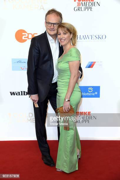 Frank Plasberg and his wife Anne Gesthuysen attend the Goldene Kamera on February 22 2018 in Hamburg Germany