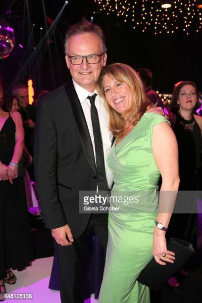Frank Plasberg and his wife Anne Gesthuysen during the Goldene Kamera after show party at Messe Hamburg on March 4 2017 in Hamburg Germany
