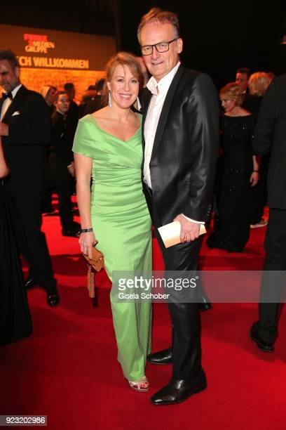 Frank Plasberg and his wife Anne Gesthuysen during the Goldene Kamera reception on February 22 2018 at the Messe Hamburg in Hamburg Germany