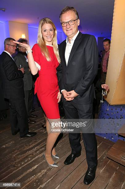 Frank Plasberg and hostess during the ARD advent dinner hosted by the program director of the tv station Erstes Deutsches Fernsehen at Hotel...