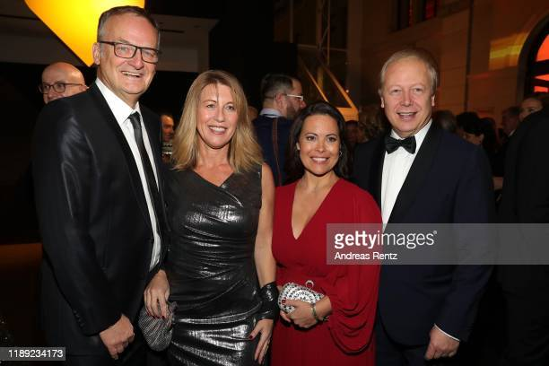 Frank Plasberg Anne Gesthuysen Sabine Stamer and Tom Buhrow attend the 71st Bambi Awards at Festspielhaus BadenBaden on November 21 2019 in...