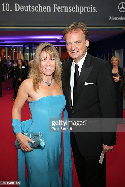 """Frank Plasberg, Freundin Anne Gesthuysen, ZDF-Gala Verleihung """"Deutscher Fernsehpreis 2008"""", """"Coloneum"""", Köln, Deutschland, Europa, roter Teppich,..."""