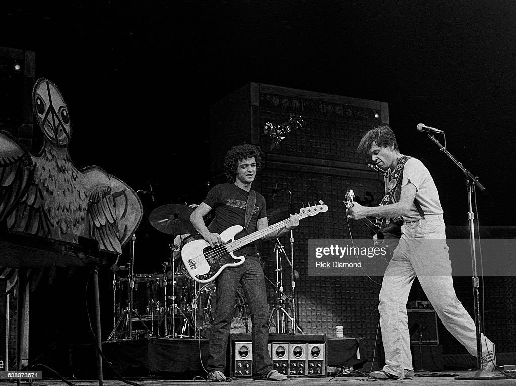 frank poncho sampedro and neil young perform during