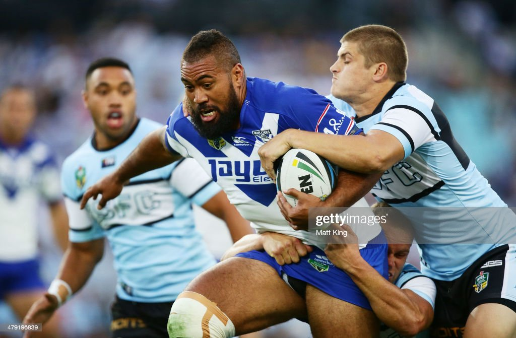 NRL Rd 2 - Bulldogs v Sharks